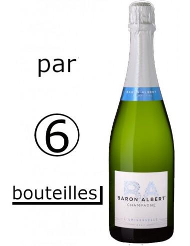 Carton de 6 bouteilles Baron Albert...