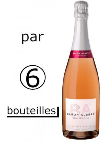 ROSE CHAMPAGNE BRUT BARON ALBERT par carton de 6 Bouteilles